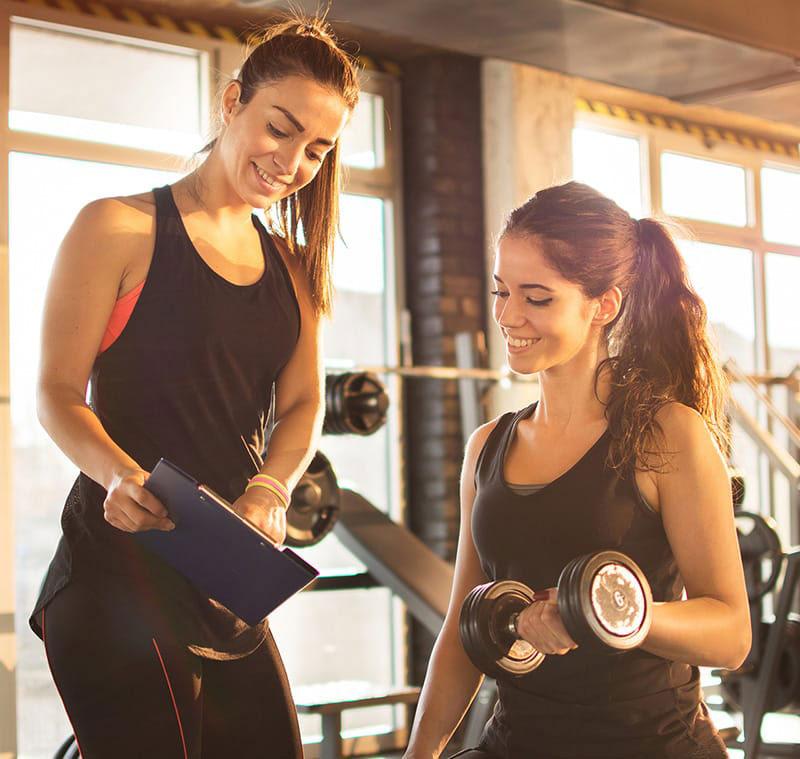 foto allenamento femminile