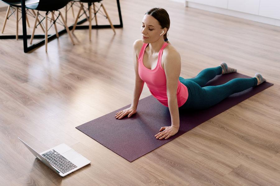 Online workout photos